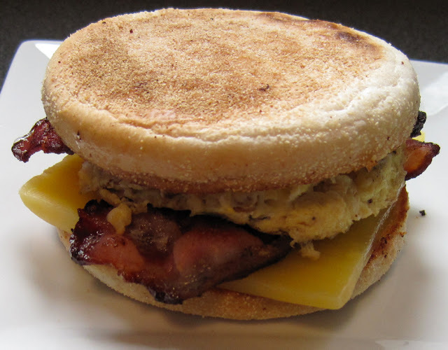 Bacon and Egg Muffin - Classic Breakfast Sandwich