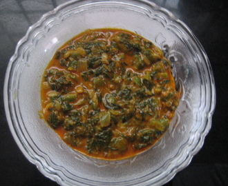 Palakura Beerakaya kura /Spinach Bottle Gourd Curry