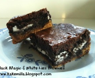 Black Magic & White Lies Brownies