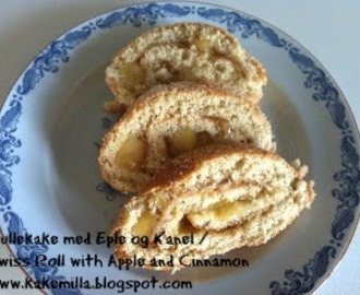 Rullekake med Eple og Kanel / Swiss Roll with Apple & Cinnamon