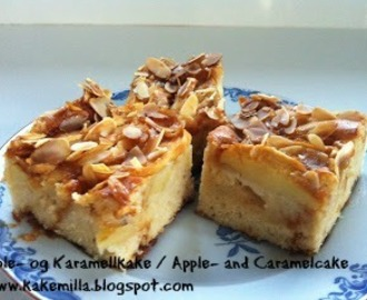 Eple- og Karamellkake / Apple- and Caramelcake