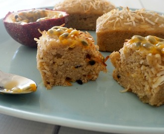 Thermomix Banana and Passionfruit Cakes