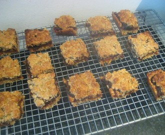 Bake along with Bake Off- Date and apple crumble traybake