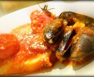 Espadarte no Forno com Mexilhões / Swordfish in the oven with Mussels