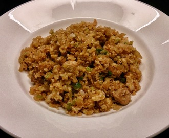 "Fried ""rice"" med kylling"