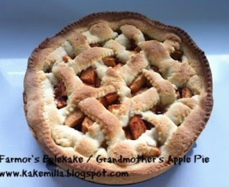 Farmor's Eplekake (Eggfri) / Grandmother's Apple Pie (Eggless)