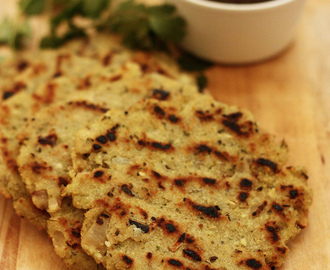 Sprouted Moong and Coconut Akki Rotti | Vegan and Gluten Free Sprouted Moong Beans Flat Bread