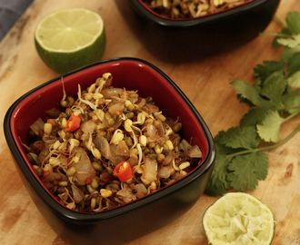 Sprouted Moong Usal Recipe | Moongachi Usal