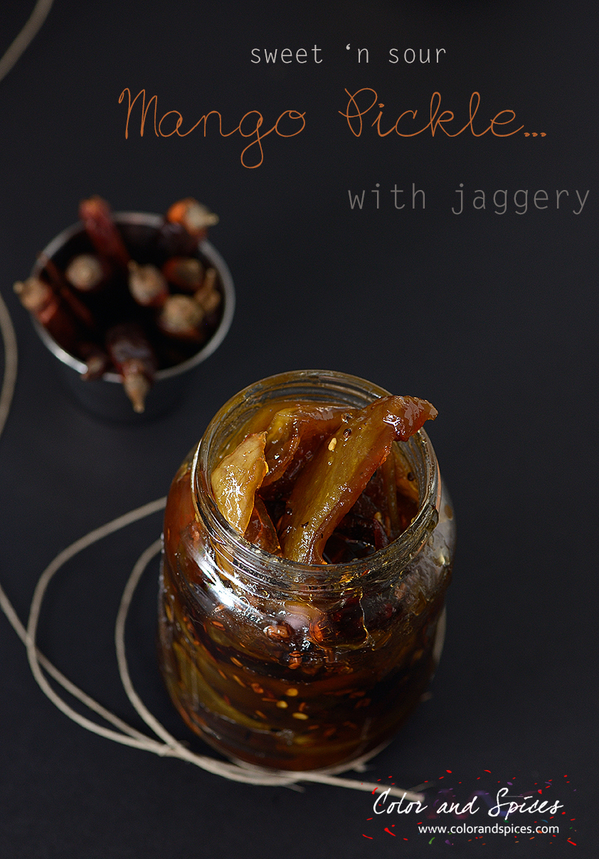 Sweet and sour mango pickle....