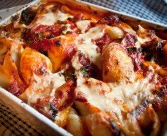 Pasta al Forno with Spinach