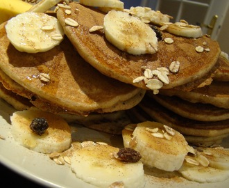 Panquecas Integrais de Banana, Aveia e Canela / Integral Pancakes with Banana, Oatmeal and Cinnamon