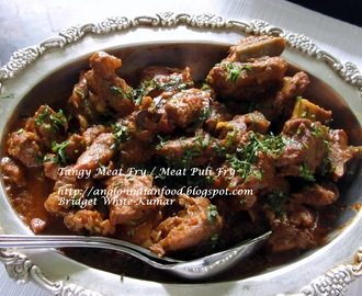 TANGY MEAT FRY OR MEAT PULI FRY (Meat cooked with Tamarind)