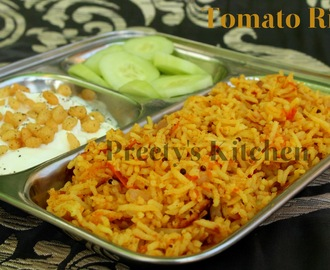 Simple Tomato Rice / Tamatar Pulao