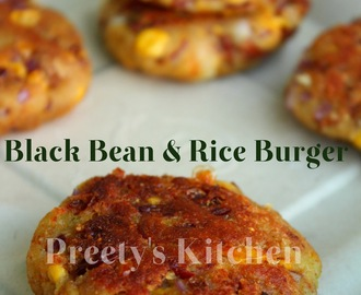 Black Bean & Rice Burger / Patty ( Rajma Ki Tikki ) / Vegan Burger Recipe