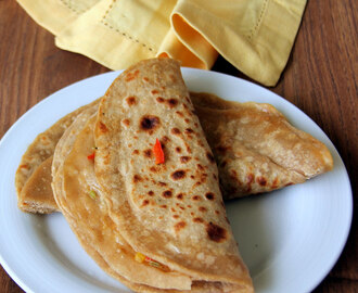 Capsicum Cheese Paratha - Simple kids meal - Simple Dinner recipe