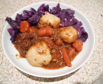 Rich beef stew with herby dumplings slow cooker recipe
