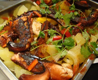 Pota com Batatas no Forno / Squid with Potatoes in the Oven