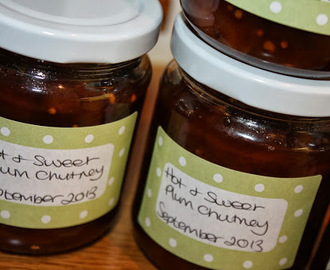 Hot & Sweet Plum Chutney