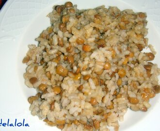 ARROS AMB LLENTIES / ARROZ CON LENTEJAS / RICE WITH LENTILS