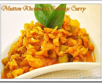 Mutton Kheema And Cabbage Curry.. (Pressure Cooker Version)