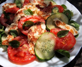 5:2 Diet, Feast Days & Fast Days, Monday Meal Plan and Halloumi & Tomato Salad Platter Recipe