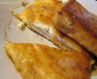 Pancakes Polish style - with sweet cottage cheese filling...