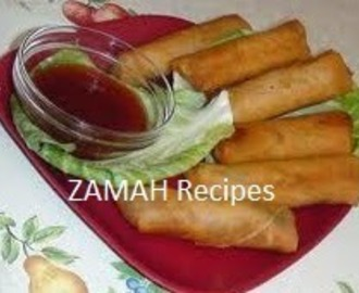 Fried Chicken Spring Roll Recipe Indian Style