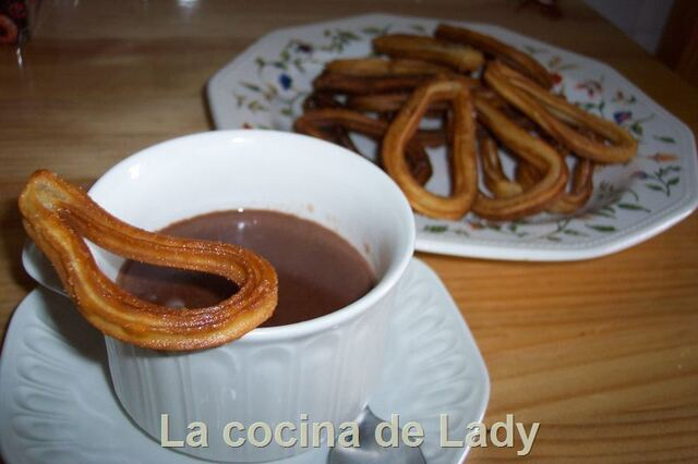 Churros con Chocolate. Productos Maheso