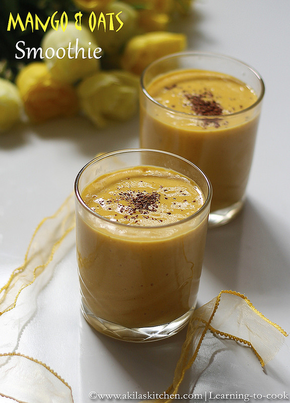 Mango Oats Smoothie | Healthy Smoothie Recipe | Breakfast SmoothieRecipes | Mango Recipes | Oats Recipes | Summer Speical Drinks |Smoothie Recipes