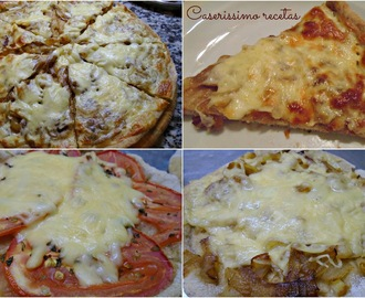PIZZA LIGHT DE HARINA INTEGRAL Solo de 130 a 230 kcal. por porción!!!!