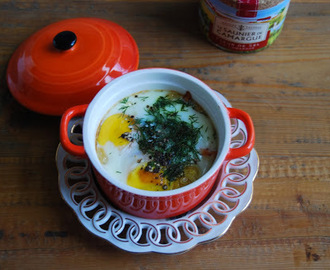 Oeuf Cocotte met gerookte zalm