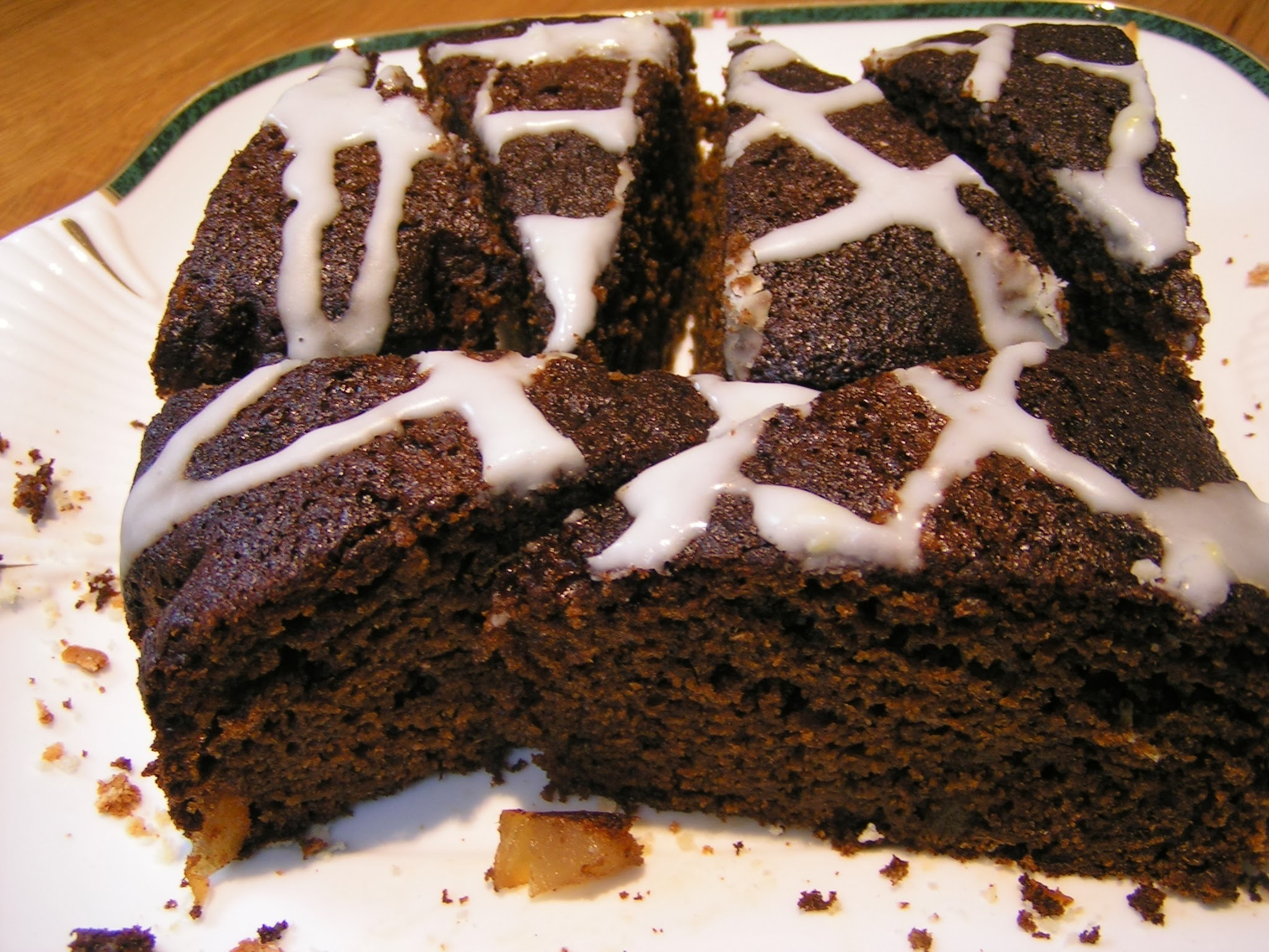 Pumpkin Ginger Cake with Lemon icing
