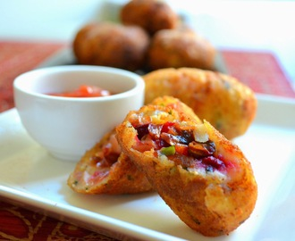 "Vegetarian croquette from modern Odia cuisine & the Cuttacki street-food ~ ""Vegetable Chop"""