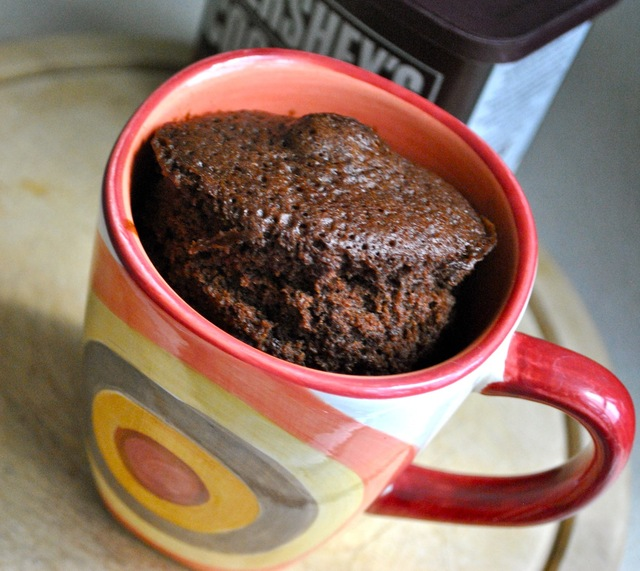 Pastelito de chocolate en taza!                               (Chocolate cake in a cup!) (5 minutos)