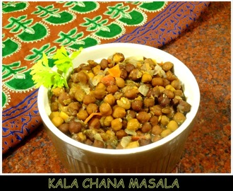 Kala Chana Masala/Black Chickpeas Curry