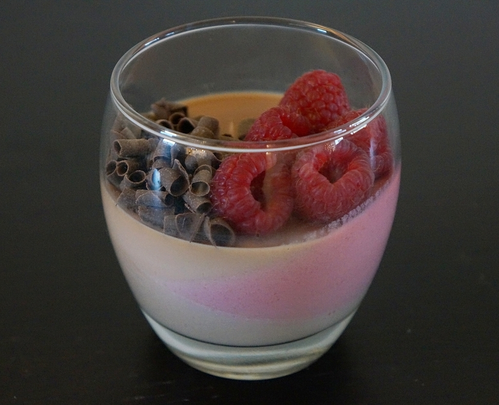 Chocolate and Raspberry panna cotta