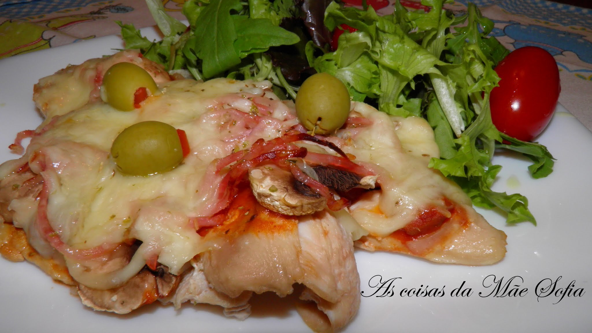 Pizza no frango / Pizza on chicken