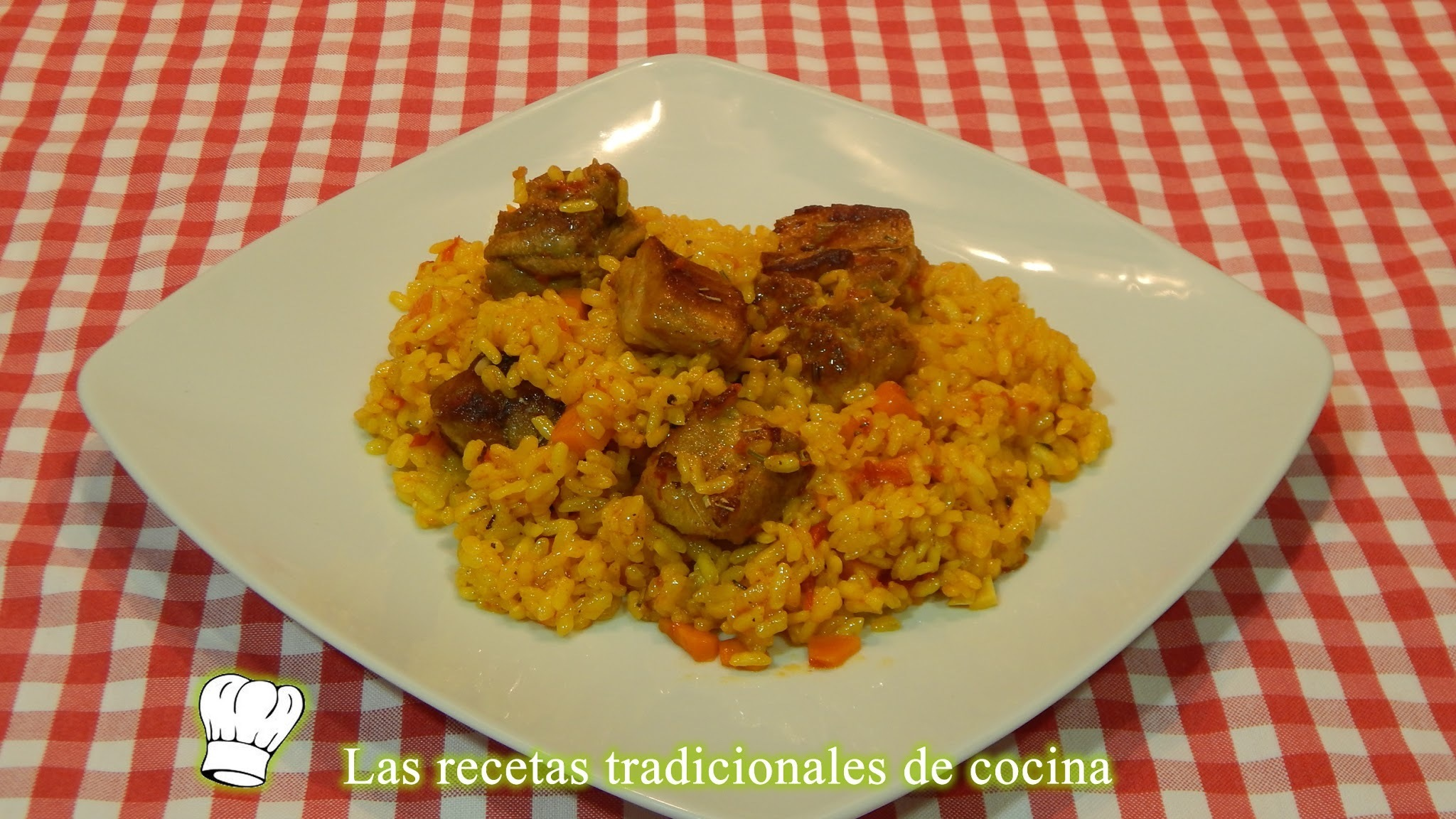 Arroz fácil con costillas adobadas