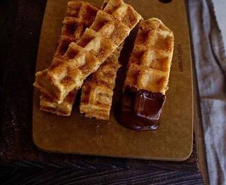 Churros nobles en forma de waffles  #glutenfree #sugarfree