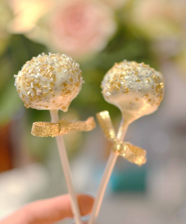 Sparkling chocolate fudge coconut cake pops