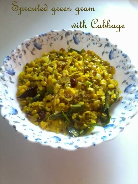 Sprouted Green Gram with Cabbage