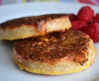 French Toast Style Crumpets with Maple Syrup