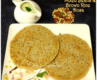 Mixed Beans & Brown Rice Dosa