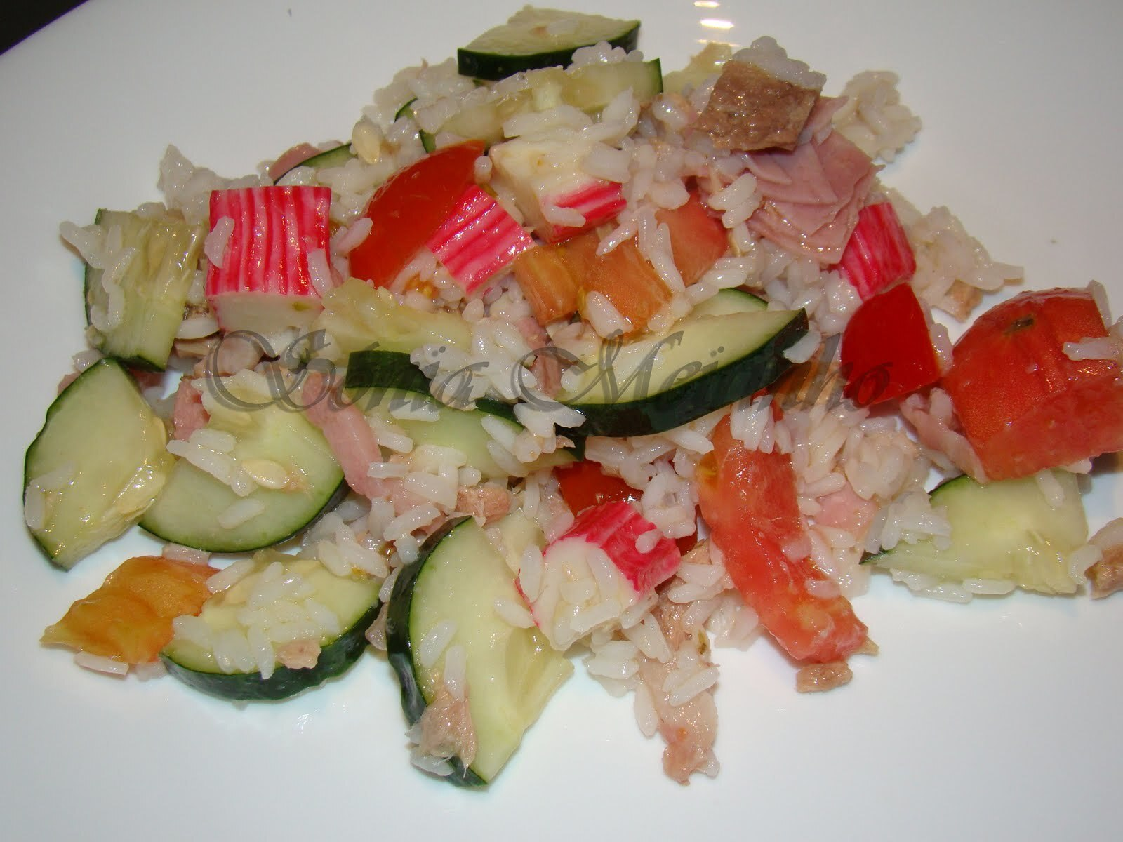 Salada de Arroz Colorida