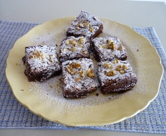 Brownies de Chocolate Negro