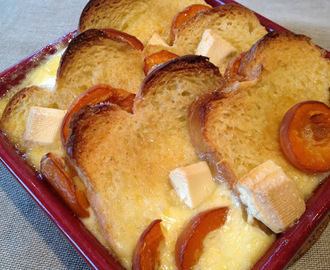 Brioche and Butter Pudding with White Chocolate and Apricots