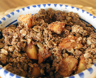 Glutenvrije Apple Crumble zonder geraffineerde suikers