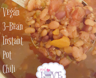 Vegan 3-Bean Instant Pot Chili