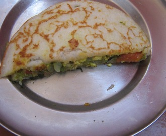 Dosa sandwich / Double decker dosa sandwich