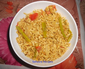 Borugula Talimpu / Uggani / Puffed rice Breakfast - South Indian Special